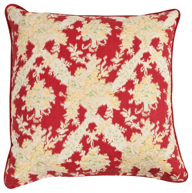 Ikat Red Pillow, 22