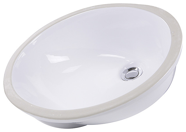 Nantucket Sinks 15 X12 Glazed Bottom Undermount Ceramic Oval Sink