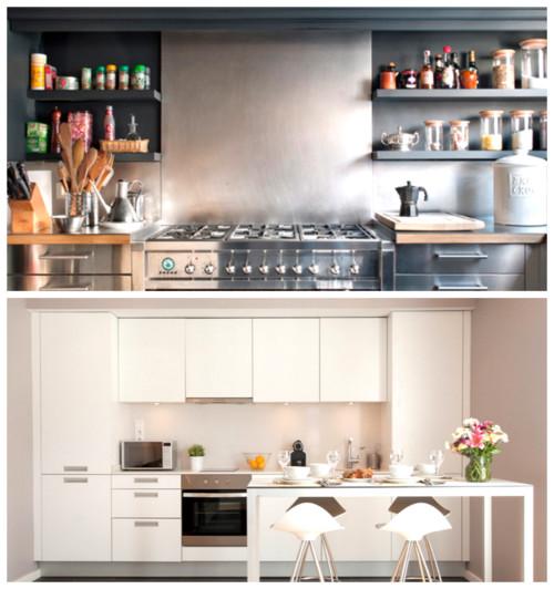 Cocina estanter as abiertas o cerradas for Estanterias cocinas pequenas