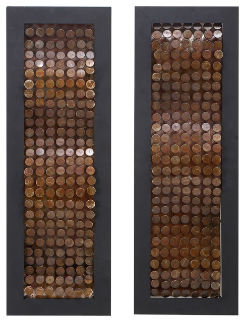 Copper Wall Decor abstract copper metal wall decor - contemporary - metal wall art