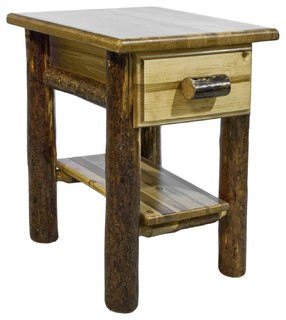 Montana Woodworks Nightstand with Drawer and Shelf in Glacier Country