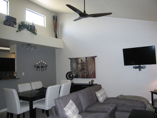 Haiku Ceiling Fans Contemporary Living Room