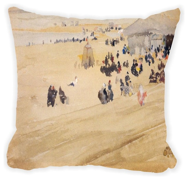 Beach Scene Throw Pillows : Whistler Beach Scene Microfiber Throw Pillow - Contemporary - Decorative Pillows - by Rikki ...