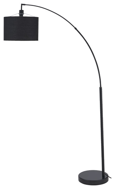 Bevelry Black on Black Floor Lamp
