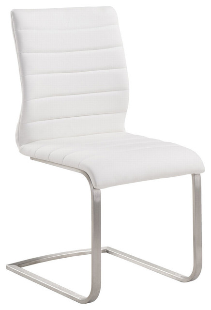 Farrell Side Chairs, Set Of 2, White.