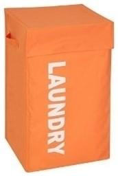 Square Graphic Hamper With Lid - Orange.