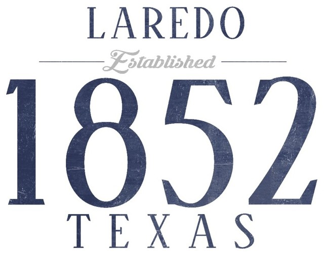 Quot Laredo Texas Established Date Blue Quot Print