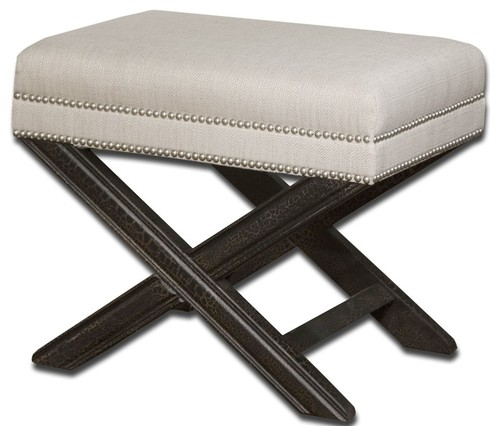Contemporary Black and WhitexBench Solid Wood