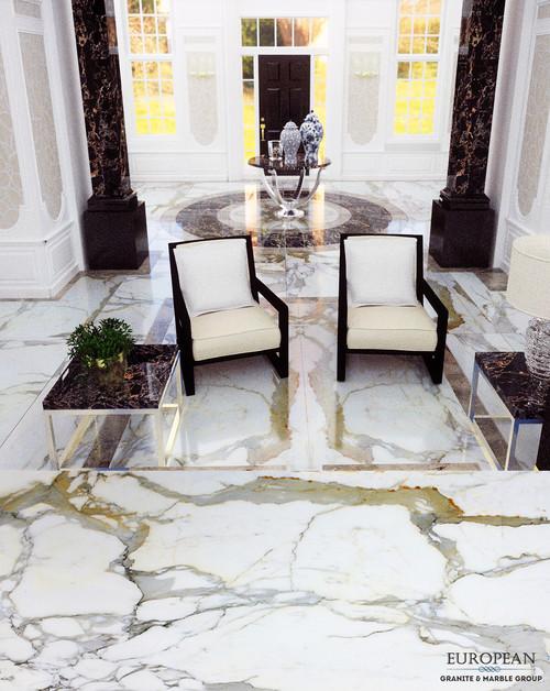 Foyer Entrance Hall Floor Calacatta Borghini Marble