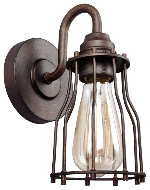 Feiss Calgary 1 - Industrial - Bathroom Vanity Lighting ...