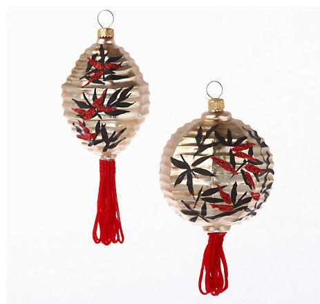 Asian santa christmas ornaments