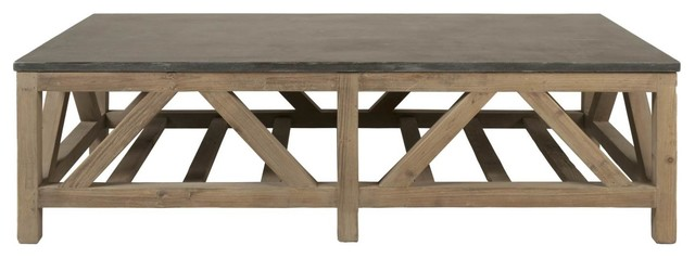 Perfect Blue Stone Coffee Table Transitional Coffee Tables