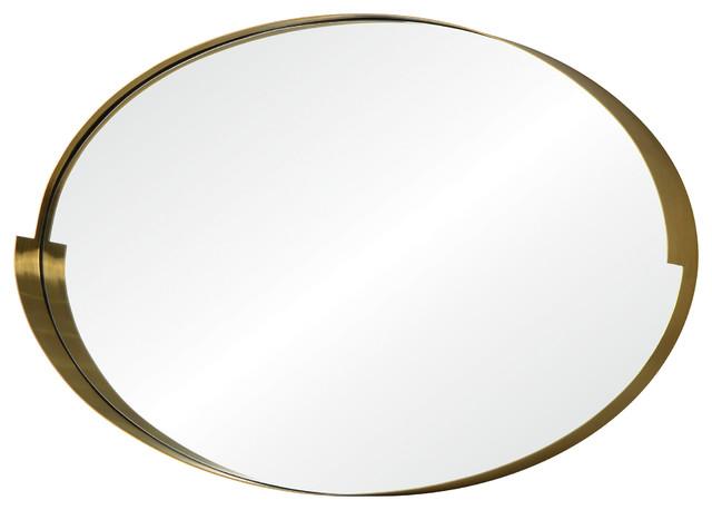 Echo 20 X 30 Oval Mirror, Gold Finish.