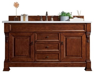 kitchen cabinet dishwasher 60 quot vanity cabinet warm cherry traditional bathroom 2473