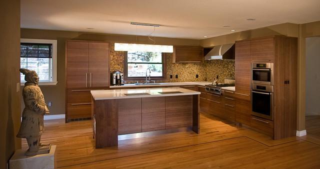 Attractive Kitchen Cabinets Ideas Horizontal Grain