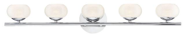 Eurofase Marche Etched Glass Globe 5 LED Bathbar
