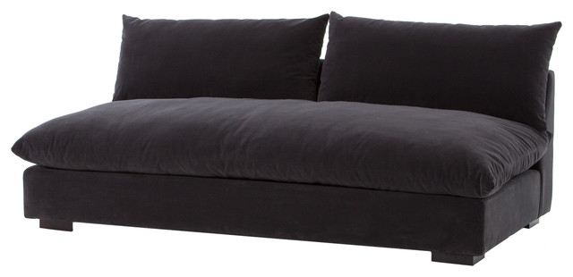 atelier grant armless sofa henry charcoal
