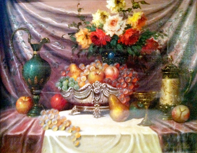 Bela Balough Still Life With Vases And Flowers Oil Painting