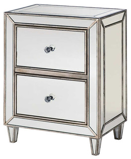 Hidden Treasures Small Mirrored Chest by Hammary, Transparent