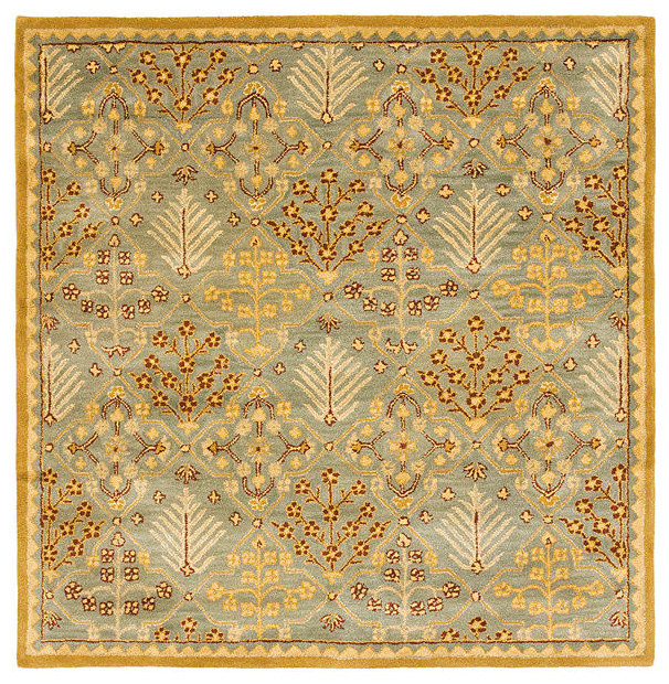 World Map Rug Costco: Safavieh Antiquities At613A Rug, Light Blue/Gold