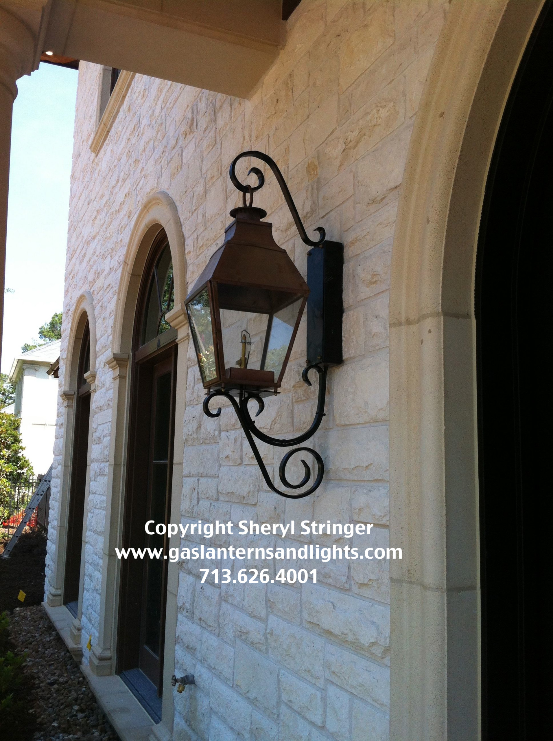 Sheryl;s French Regency Lantern with Solid Top
