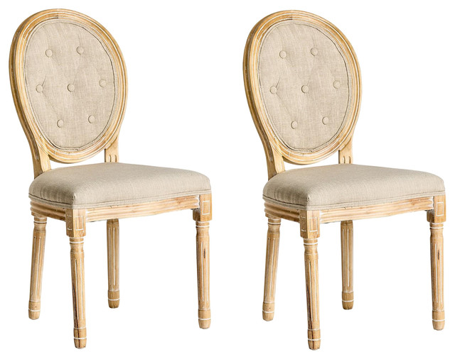 Kalbe Classic Dining Chairs, Sand, Set of 2