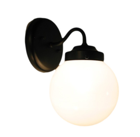 Milk Glass Sconce Wall Light Fixture Oil Rubbed Bronze
