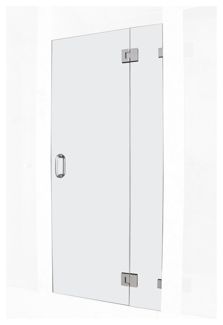 78x32.75 Frameless Hinged Shower Door, Glass Hinge Door Style, Chrome by Glass Warehouse