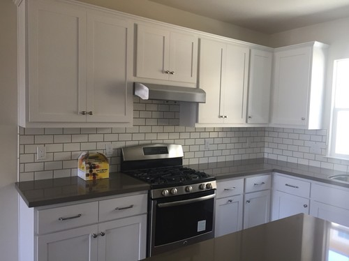 Subway Tile Kitchens subway tile backsplash - 1/2 or 1/3 offset?