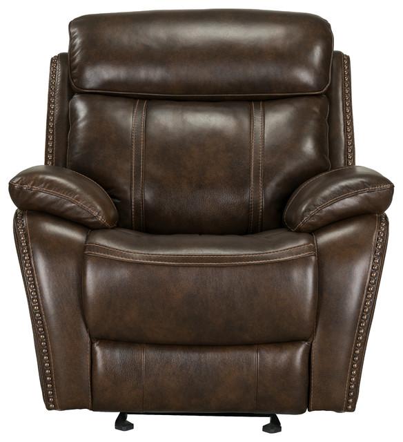 Phenomenal Edmond Power Motion Glider Recliner Brown Machost Co Dining Chair Design Ideas Machostcouk