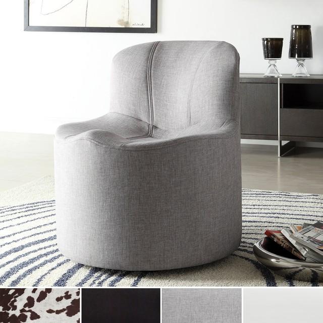 TRIBECCA HOME Bridgeport Ergonomic Contour Swivel Modern Accent Chair Conte