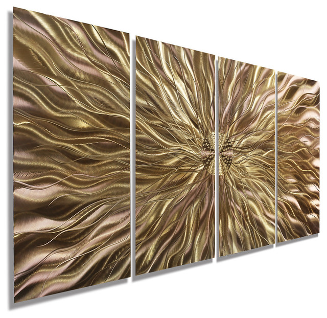 Copper Static Metal Wall Art Painting By Jon Allen - Contemporary ...
