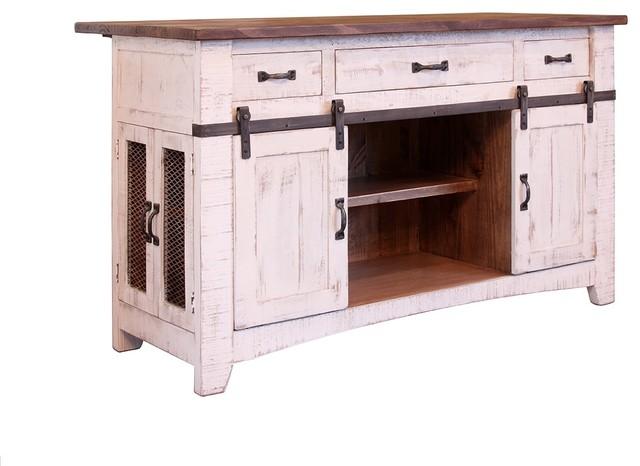 Anton Handmade Fully Built Wood Furniture Kitchen Island, White, 60 X 30,  Regula