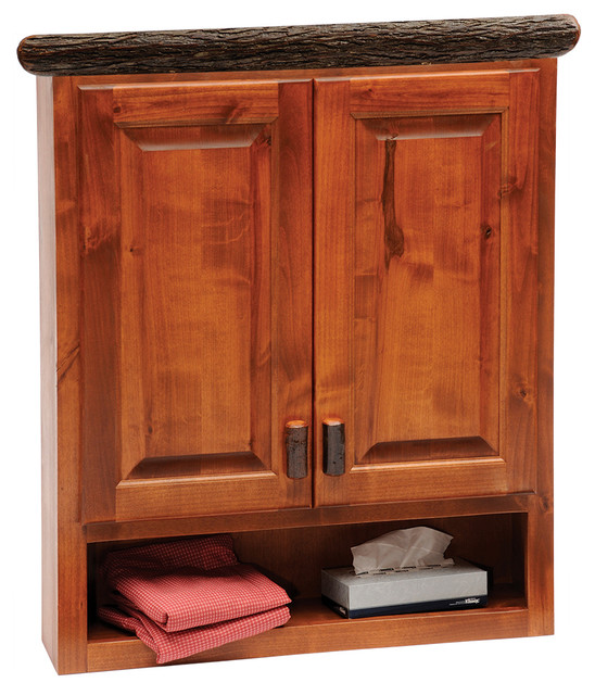 Fireside Lodge Furniture Company Hickory Toilet Topper Cabinet ...