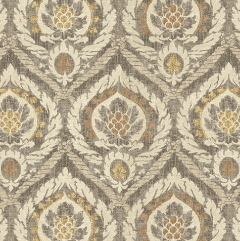 Scandicci Gray Fabric By The Yard Traditional Upholstery Fabric