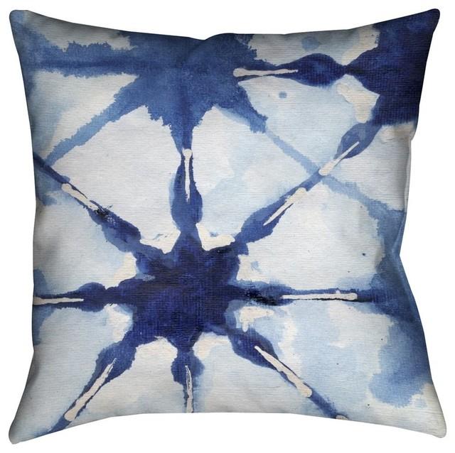 "Laural Home Shibori II Outdoor Decorative Pillow, 18""x18"""