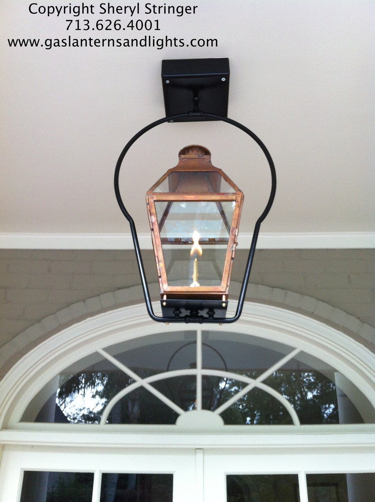 Sheryl's French Hanging Gas Lantern with Glass Top