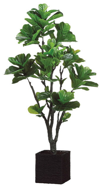 silk plants direct fiddle leaf fig tree, pack of 1 - traditional