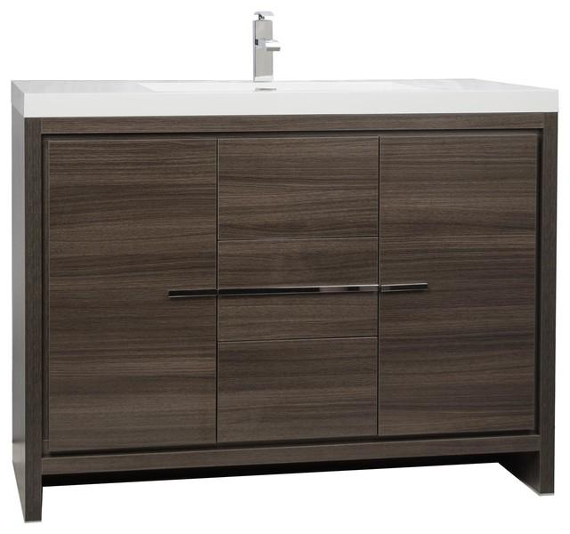 Cbi Enna 42 Inch Gray Oak Modern Bathroom Vanity Tn La1065 Go