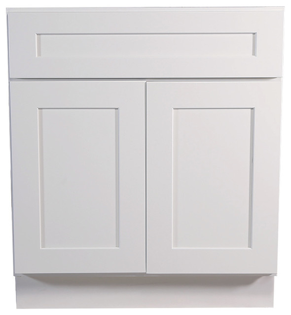 "Design House Brookings Cabinet, White Shaker, 30""."