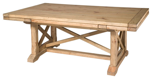 Kincaid Homecoming Solid Wood Refractory Trestle Table Vintage