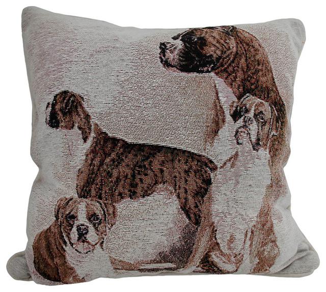 Decorative Dog Throw Pillows : Boxer Dog 17