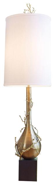 Global Views Twig Bulb Floor Lamp, Brass