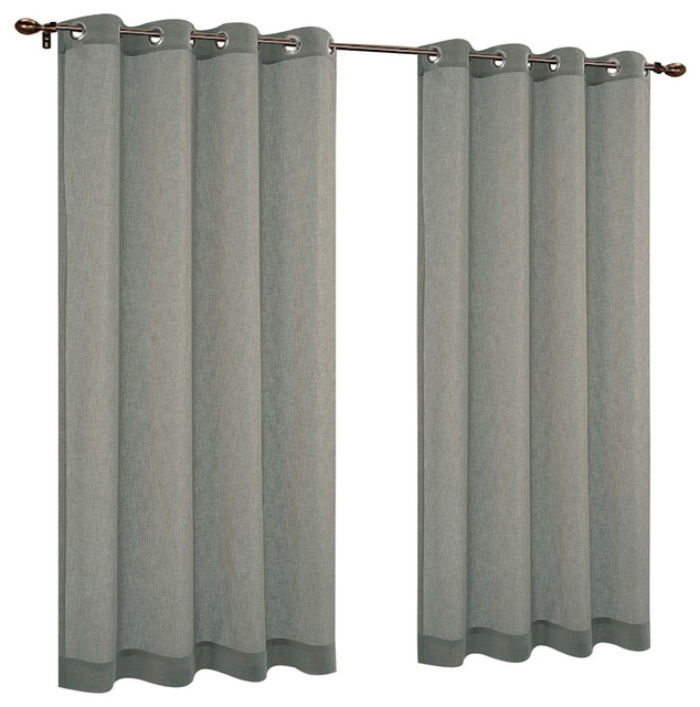 Cotton Roman Shades, Light Green, (48 In.x72 In.)