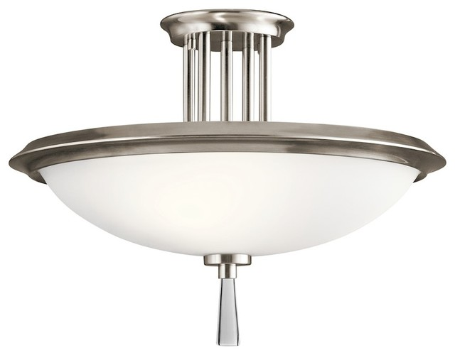 Kichler Dreyfus Semi Flush 3-Light, Classic Pewter.