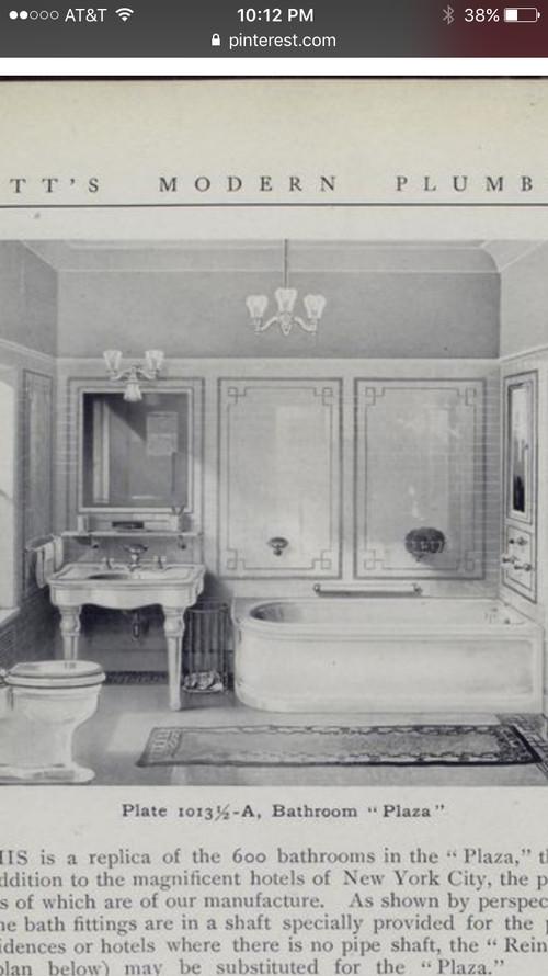 tile design for 1910s/1920s inspired bathroom on 1910 kitchen design, early 1900 bathroom design, 1800s kitchen design,