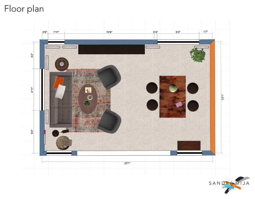E-design project on 3K budget