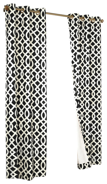 Commonwealth Home Fashions Trellis Grommet-Top Curtain Panels ...