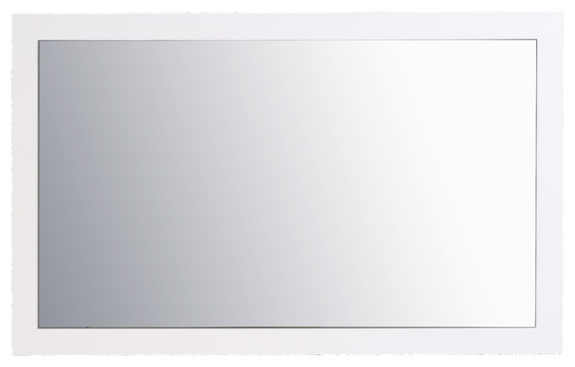 Sun 48 Glossy White Full Framed Bathroom Wall Mirror.