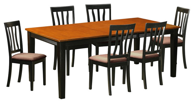 7-Piece Solid Wood Dining Set by East West Furniture